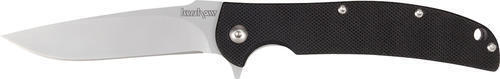 Kershaw 3410 Chill Folding Knife Satin Plain Drop Point Flipper Black G10 Folder