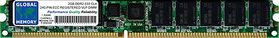 (2GB DDR2 533MHz PC2-4200 240-PIN ECC REGISTERED VLP RDIMM SERVER/WORKSTATION RAM)
