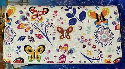 One New Disney Dooney & Bourke 2019 Flower & Garden Butterflies Wallet/Wristlet