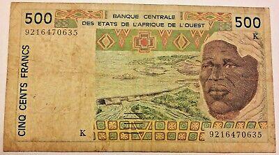**      500  francs  BCEAO Signature RARE    ** #F2#