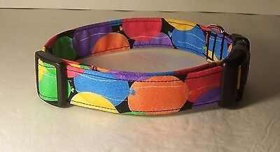 Balloons Dog Collar Collars (Wet Nose Designs Lets Party Colorful Balloons Dog Collar Celebration Birthday )