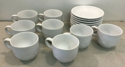 Christian Dior French Country Rose Set of 16 Oyster White Tea Cups & Saucers