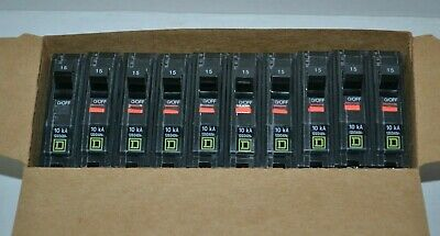 Square D Qo115 Plug-in Circuit Breaker 15a 1 Pole New Box Of 10