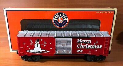 LIONEL SNOWMAN MERRY CHRISTMAS 2002 BOX CAR 6-36243 FOR O GAUGE TRAIN SET FROSTY
