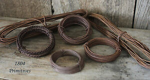 Primitive Rusty Tin Wire ASSORTMENT ~ 6 Different Sizes