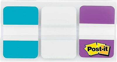Post-it Tabs File Tabs 1 X 1 12 Aquawhiteviolet 66pack 686-awv