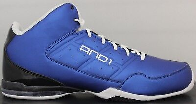 Men's AND1 Basketball Sneakers Master Mid D1060MMB Royal Blue/Black And 1  ](Royal Blue And Black)