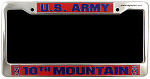 ARMY-10TH-MOUNTAIN-MILITARY-LOGO-CHROME-LICENSE-PLATE-FRAME
