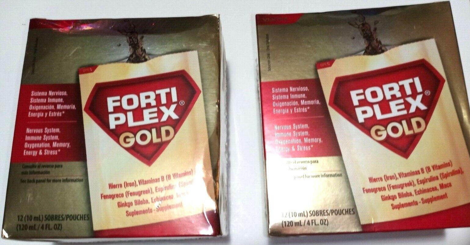 2 Pk FORTI PLEX 12 Pouches Excelente Anti Estress Alimento Del Cerebro Exp 01/21 - $23.99