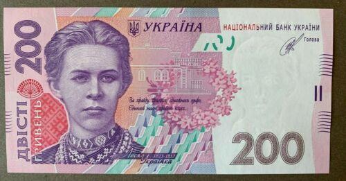 UKRAINE UNC 200 HRYVEN UAH 2014 NOTE P123d. Signature - Kubiv.