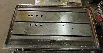 51 X 28.75 X 8 T-slotted Steel Table Cast Iron T-slotjigweld