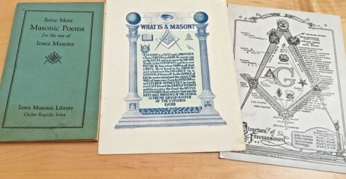 MASONIC POEM BOOK AND CARDS FOR MASONS 1944