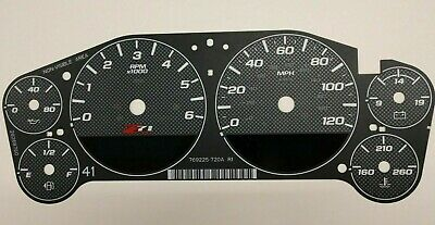 2007-2014 Carbon Fiber Gauge Face Overlay for Silverado and SUV Z71 Clusters OEM