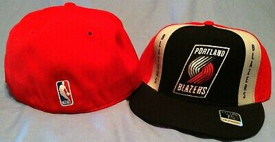 PORTLAND TRAILBLAZERS RETRO FLAT BRIM FITTED MULTI TEAM COLORS NBA CAP REEBOK
