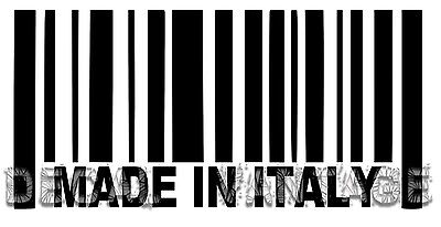 Made In Italy Barcode Vinyl Sticker Decal Italian - Choose Size & Color