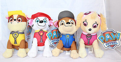 Paw Patrol Plush Stuffed Toy Set 4 Chase Rubble Marshall Skye Toy Boy Girl Kids