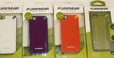 Apple Iphone 5 Shell (Apple iPhone 5 5S SE PureGear Slim Shell Impact Flexible Silicone Case 5/5s/5SE)
