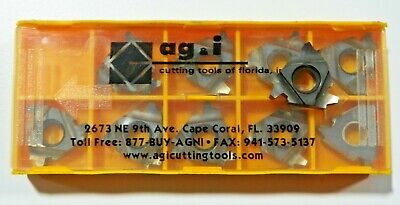 10 Pieces Agi 22nr 6acme T5 Carbide Inserts  H518