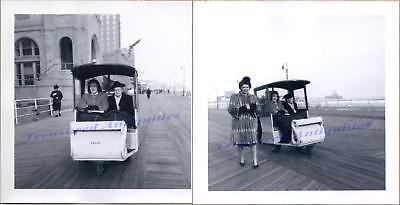 1947 Atlantic City New Jersey Women Boardwalk Wicker Push/Hand Cart Taxi Photos