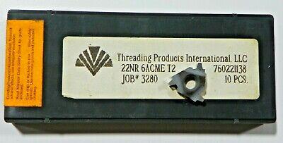 11 Pieces Tpi 22nr 6acme T2 Carbide Inserts  H530