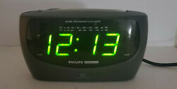 Philips Magnavox Large Display AM/FM/Weather Band Dual Alarm Clock Radio AJ3480