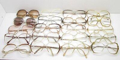 SET of 20 VINTAGE WOMENS OVERSIZED EYEGLASSES FRAMES eyewear bulk lot TV6 S104