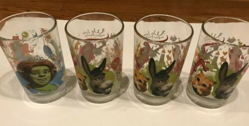 McDonald's Shrek The Third Collectible Drinking Glasses (2007) - Set of 4