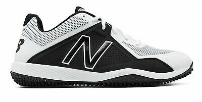 New Balance Low-Cut 4040V4 Turf Baseball Cleat Mens Shoes White With Black ()