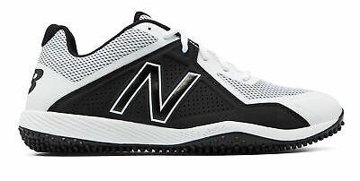 Black Turf Baseball Shoes - New Balance Low-Cut 4040V4 Turf Baseball Cleat Mens Shoes White With Black