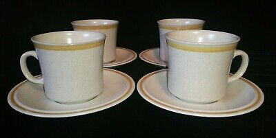 4 Sets Hearthside Garden Festival Stoneware Tea Cups & Saucers Japan Coffee Mugs ()