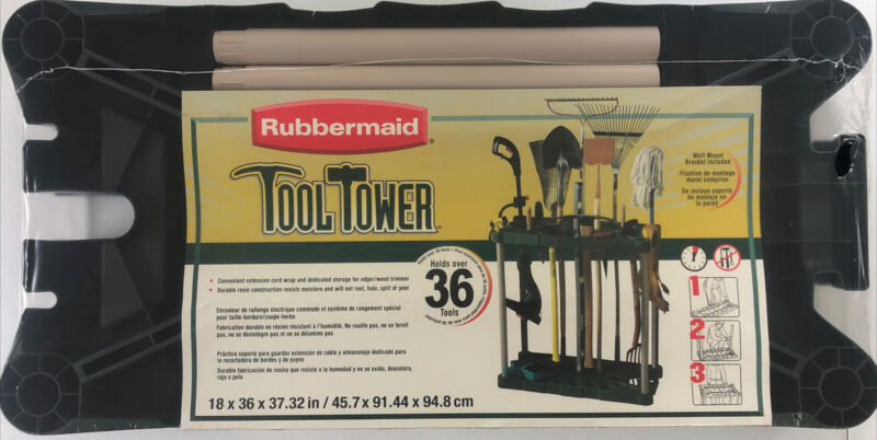 Rubbermaid 7092-18-MICHR Black/Natural Plastic Tool Tower 37 H x 36 W x 18 D in.
