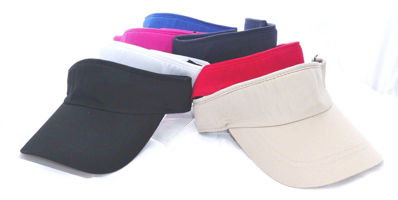 Sonnenschild/Visor-Lauf/Golf/Tenniscap für Damen und Herren 100% Baumwolle,Klett
