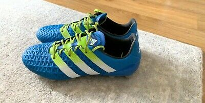 Adidas Ace 16.1 FG/AG Shock Blue/Semi Solar Slime White  UK 8.5