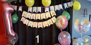 Unicorn themed 1st birthday party for twin girls