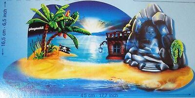 Playmobil 6625 Pirate Treasure Island Christmas Advent Calendar Cardboard Scene