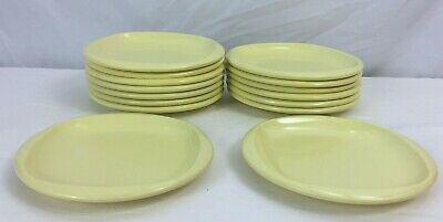 Lot Of 15 Vintage Boonton 6.5 Inch Yellow Plates