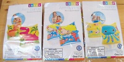 3 Pairs Intex Children's Inflatable Swim Arm Bands Kids Floaties New pool water