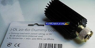 robuster Dummyload PL Anschluss 50 Ohm 20W Dauer 60W Peak mit Kühler, top Quali.