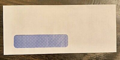 10 Security Single Window Envelopes Letter Mailing 4-18 X 9-12 50 Count