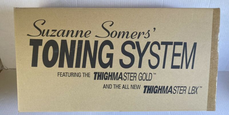 Suzanne Somers Toning System Thighmaster Gold & LBX - New in Box