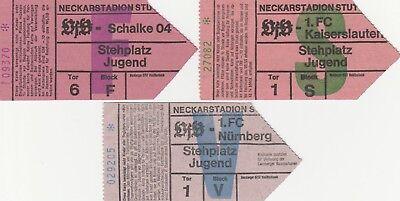 Tickets VFB STUTTGART - 1. FC Kaiserslautern, Schalke 04, 1. FC Nürnberg gebraucht kaufen  Ludwigsburg