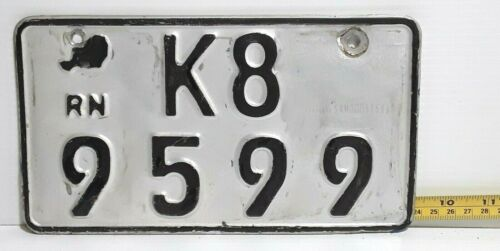 Republic of NIGER - 2012 motorcycle license plate - tough nation, well used