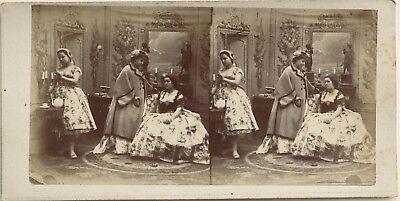 Scene of genre Fashion Deco Photography Stereo Vintage Albumin c1860