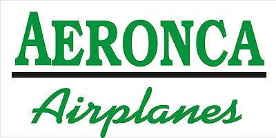 A208  Aeronca Airplane banner hangar garage decor Aircraft signs