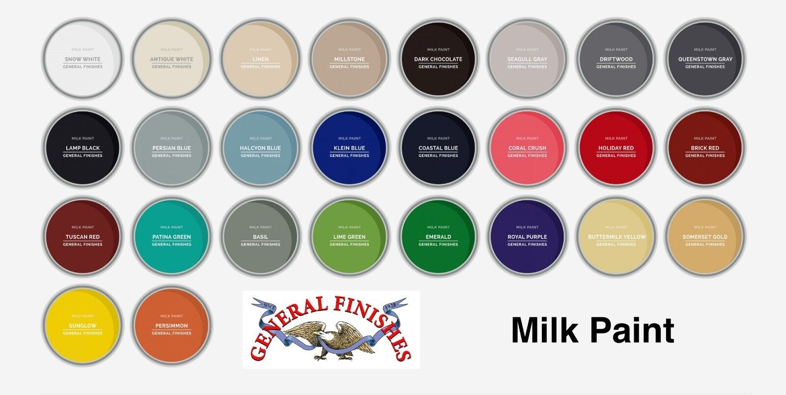 General Finishes Water Based Milk Paint 1 Quart, All Current Colors Available! Building & Hardware