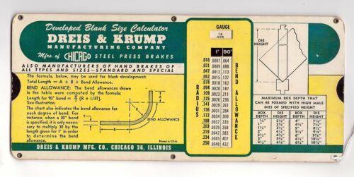 Slide Chart, Dreis & Krump mfg,  (S647)  D5