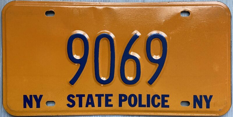 Vintage 1970 's New York STATE POLICE License Plate