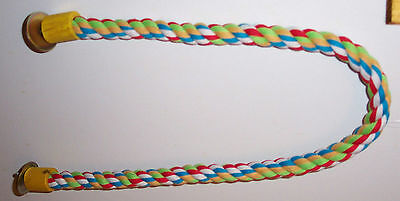 "Rope perch 1"" dia 38"" Long Parrot Bird Toy"