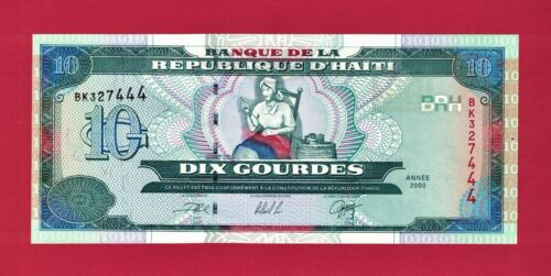 10 GOURDES 2000 HAITI UNC NOTE (P-265a) - Catherine Flon Arcahaie - PRINTER: DLR