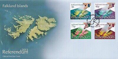 2013 Falklands Islands Referendum Full Set of 4 Referendum Stamps